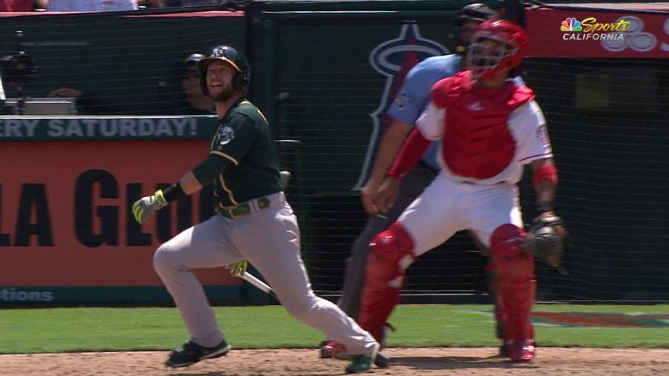 Lowrie's 2-run homer