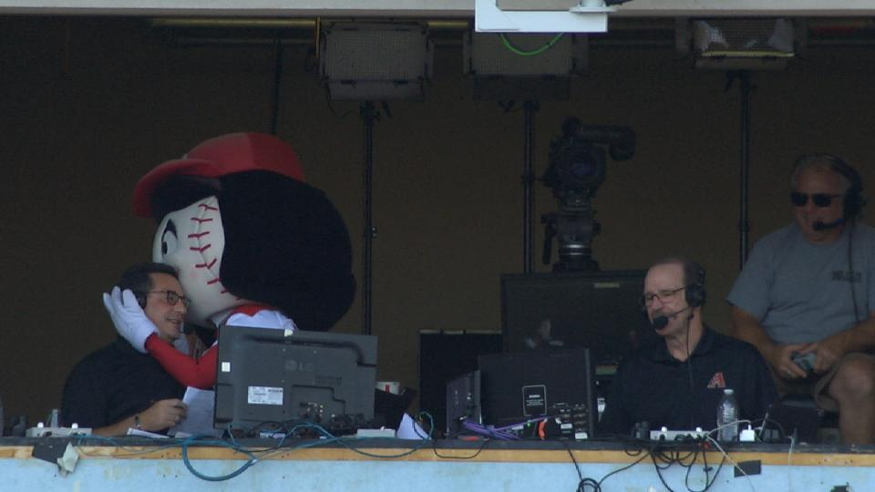 Rosie Red joins the booth