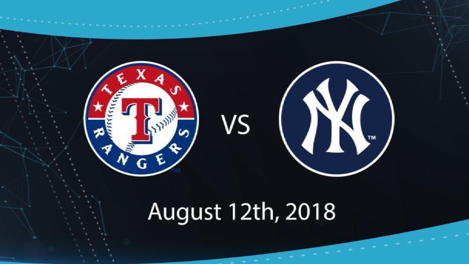 8/12/18: TEX vs. NYY Highlights