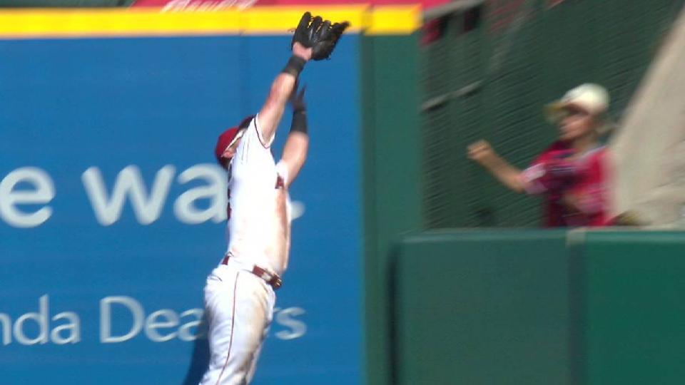 Calhoun's leaping catch