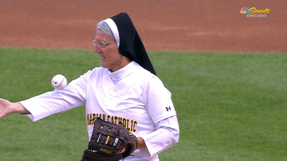 Sister Mary's first pitch