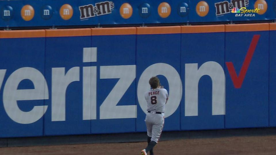 Pence's over-the-shoulder catch