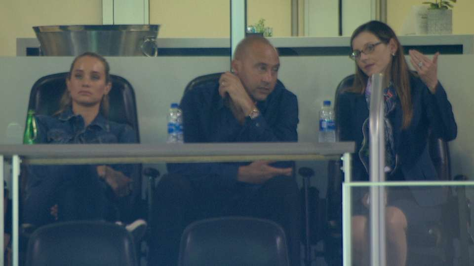 Jeter watches Marlins vs. Yanks