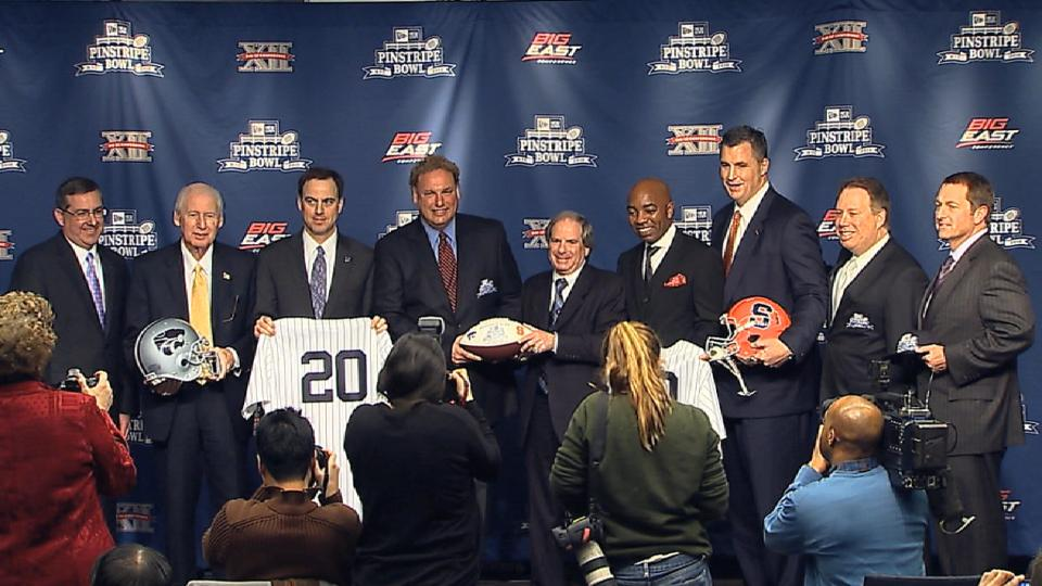 Pinstripe Bowl news conference