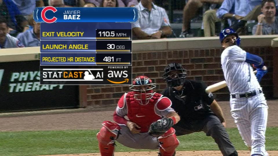 Statcast: Baez's 481-ft. HR