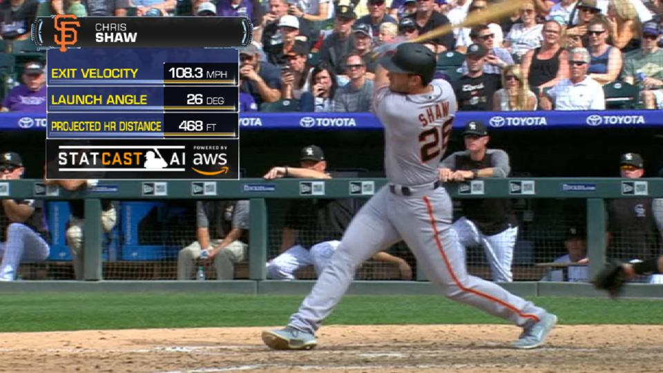 Statcast: Shaw HRs for 1st hit