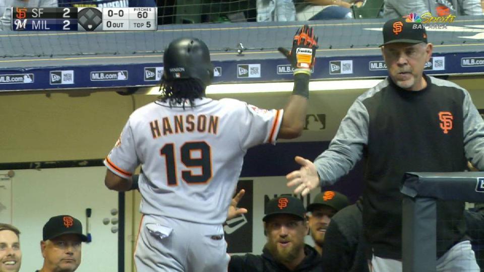 Hanson's solo homer