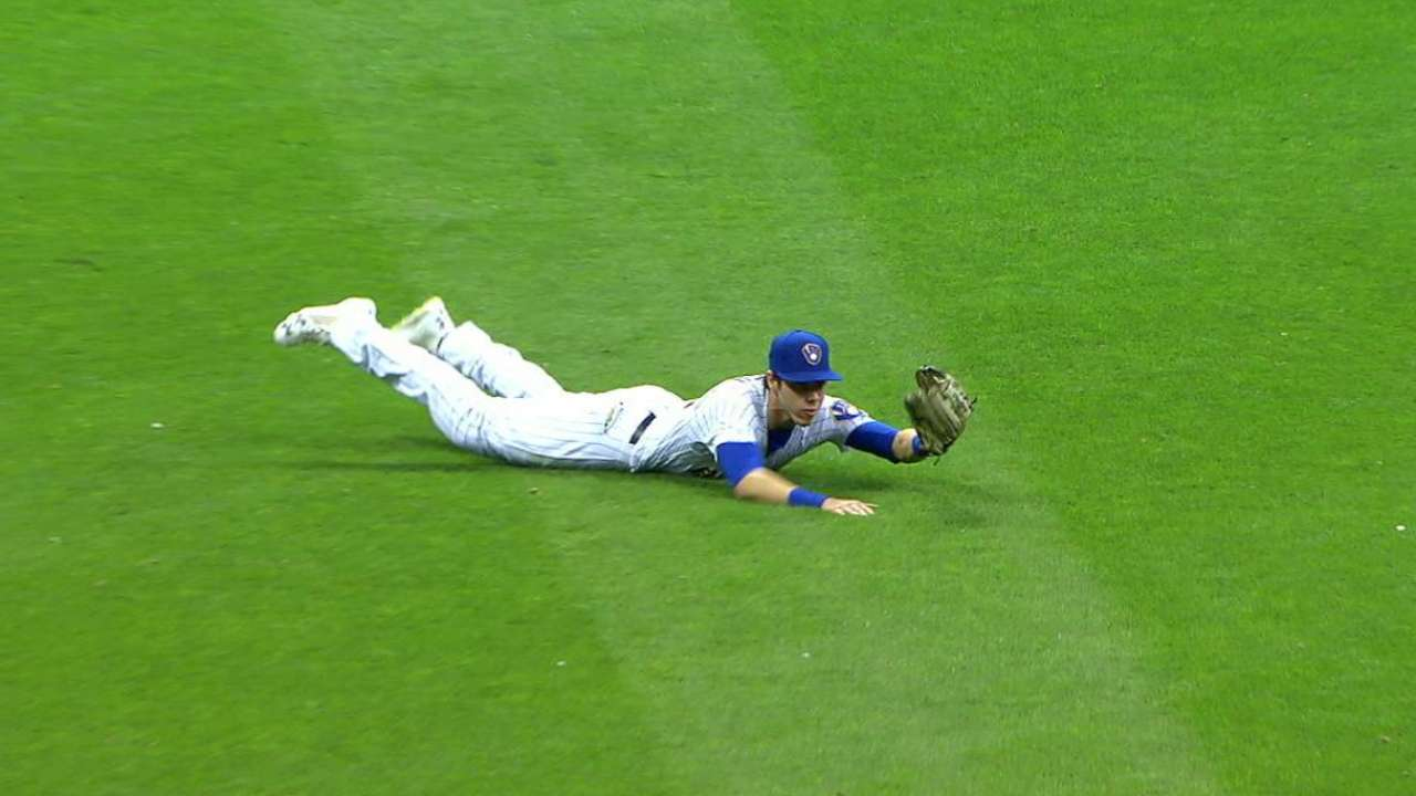 Yelich's diving grab in the 9th