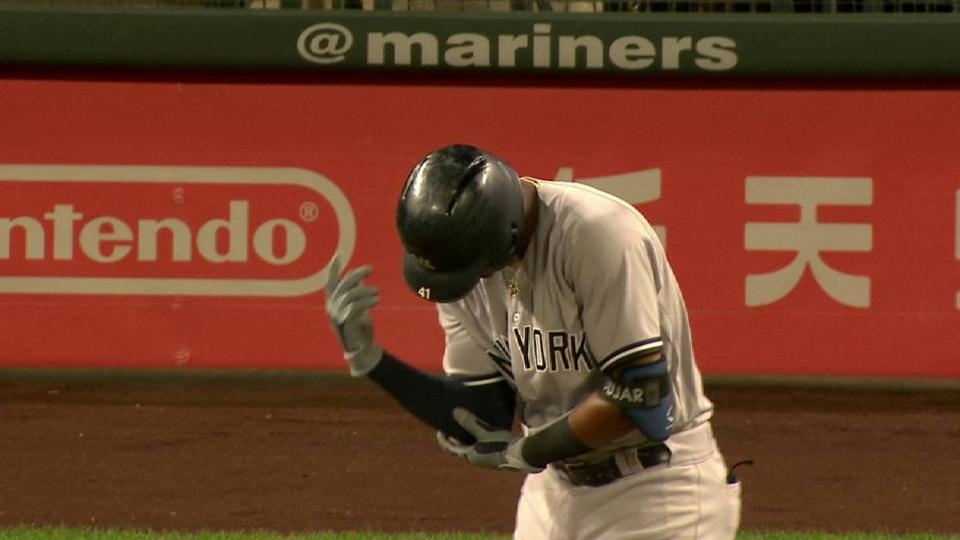 Andujar exits after hit-by-pitch