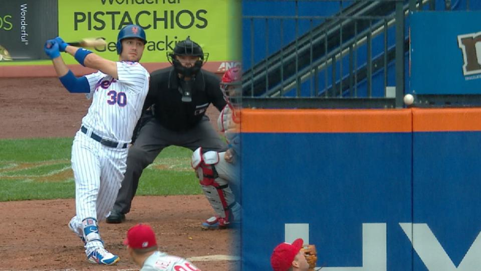 Conforto homers after review