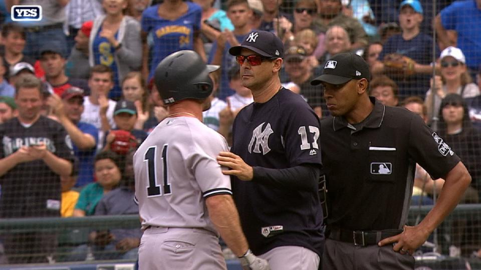 Gardner ejected after strikeout