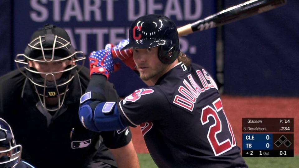 Donaldson's 1st AB with Indians