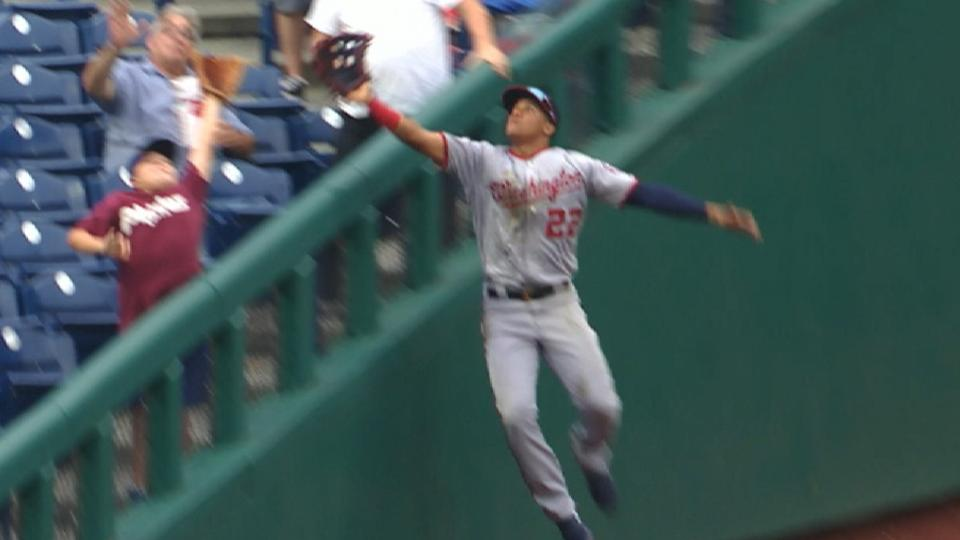 Soto's incredible leaping grab