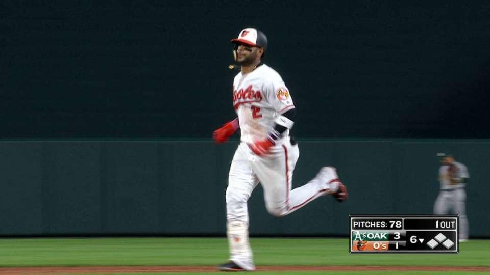 Villar's 421-foot home run