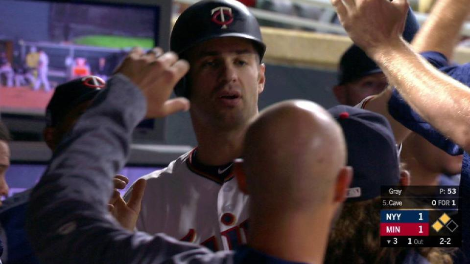 Mauer scores on passed ball