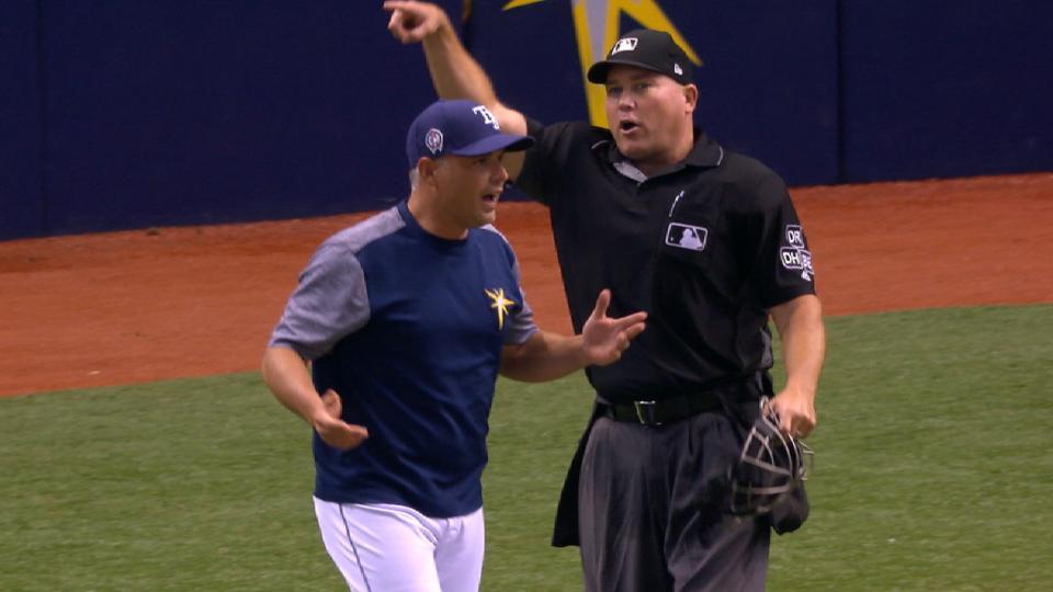 Cash gets ejected after balk