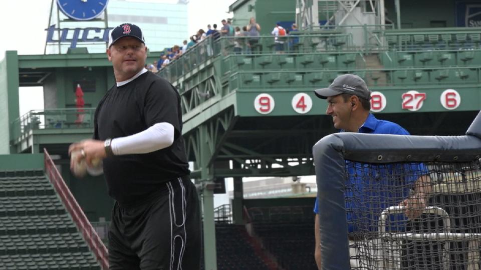 Clemens throws BP for lucky fans