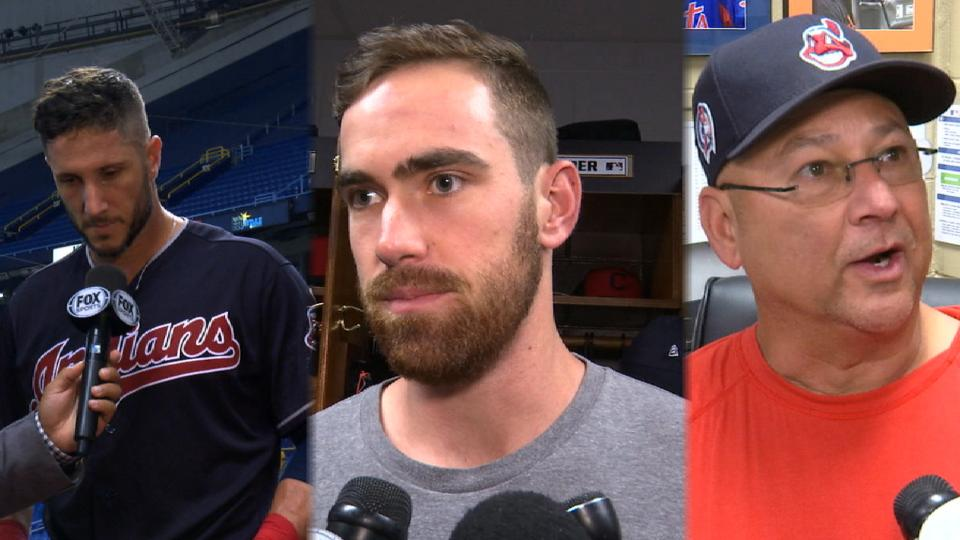 Indians on win over Rays