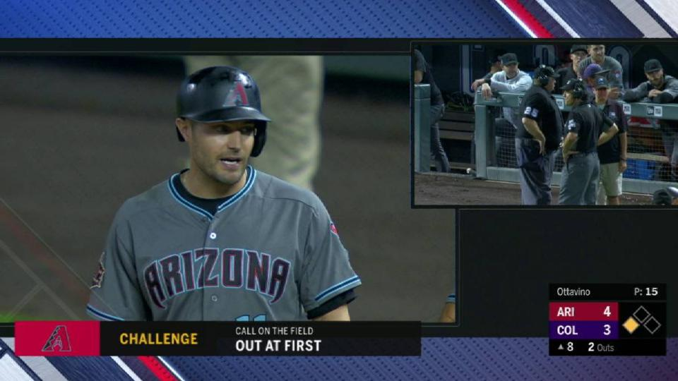 Pollock ruled safe at first