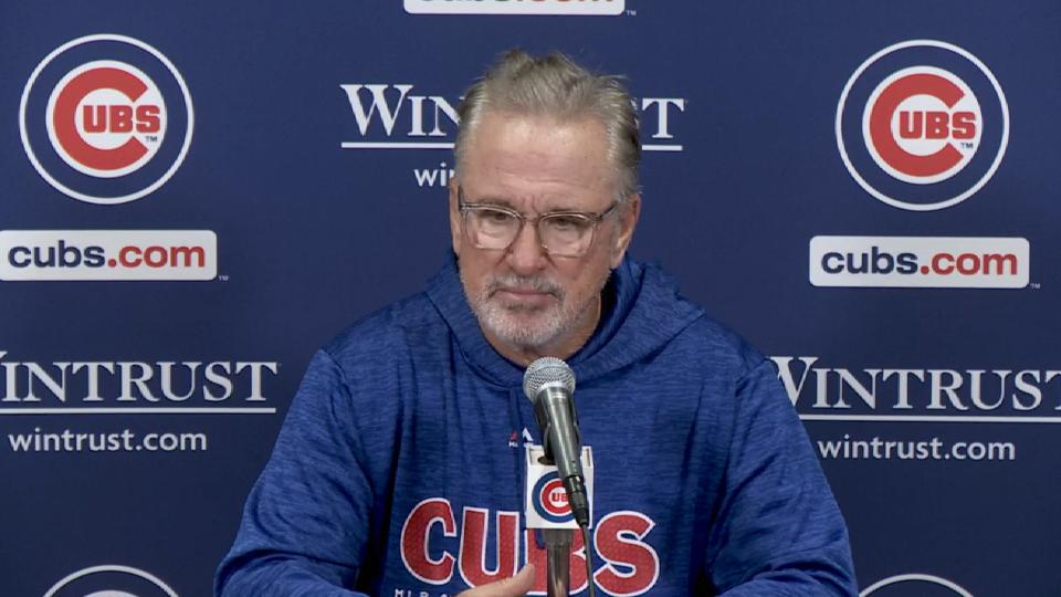 Maddon on Quintana's outing, win