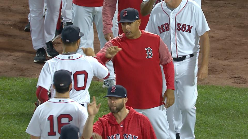 Cora on Red Sox clinching