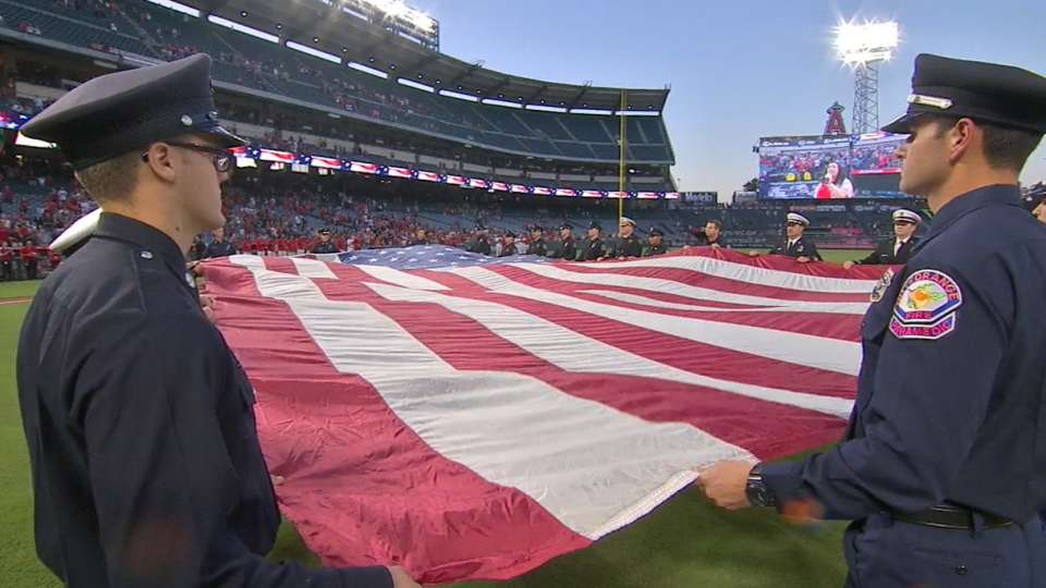 Angels commemorate Sept. 11