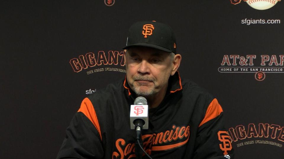Bochy on 4-1 loss to Braves