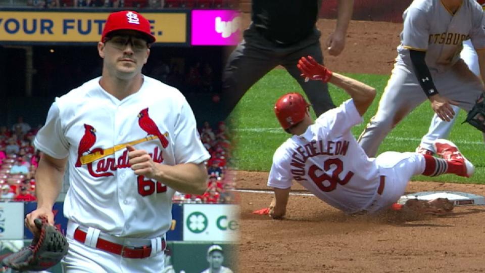 Poncedeleon K's 7, 1st MLB hit