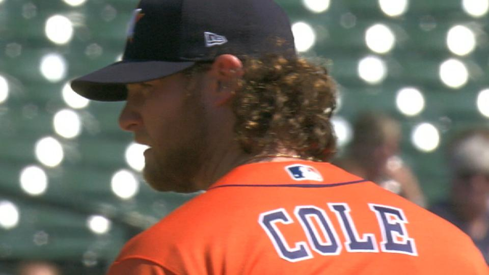 Cole K's 9 over 5 innings