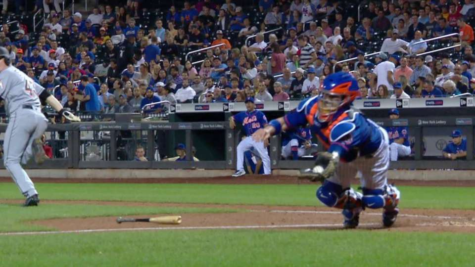 Nido's diving catch off a bunt