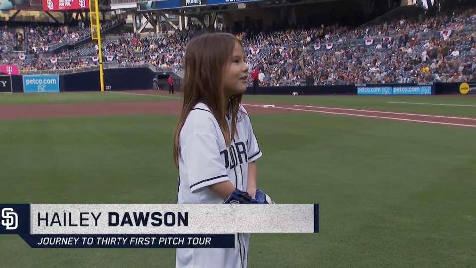 3/31/18: Dawson's first pitch