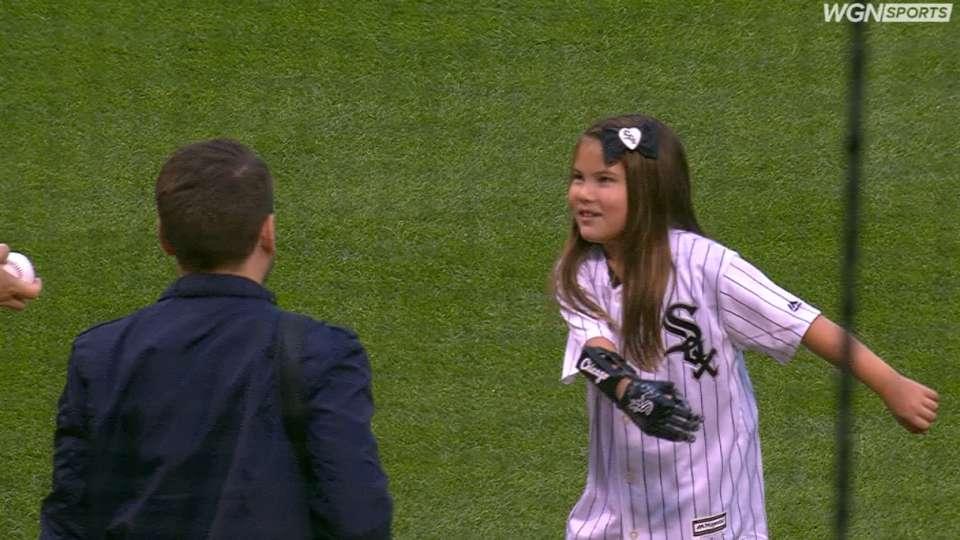 Dawson throws first pitch