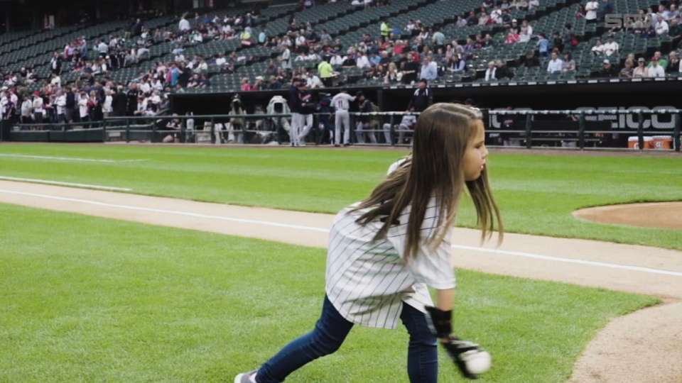 Hailey Dawson's first pitch