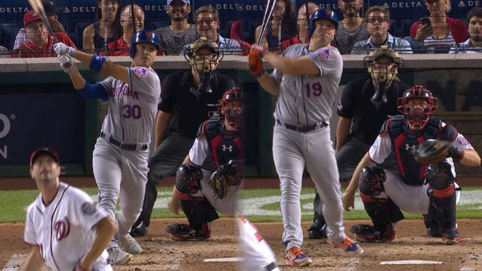 Mets hit 2 homers off Scherzer, win in 12