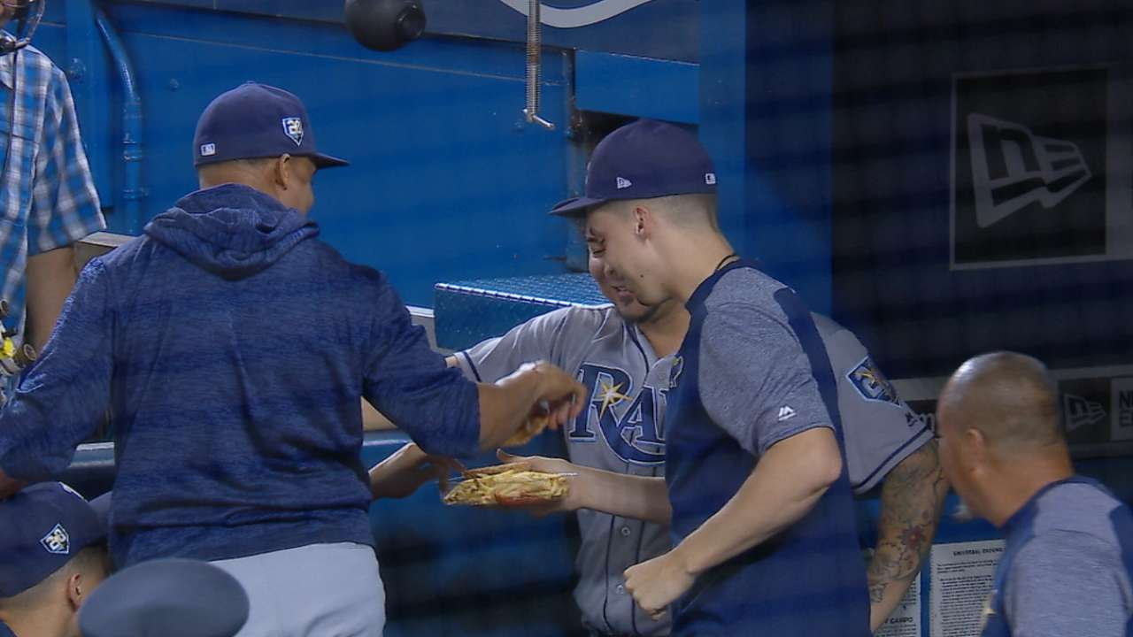 51f4359095f Blake Snell negotiated his own trade with a fan  A baseball for some fresh  chicken tenders