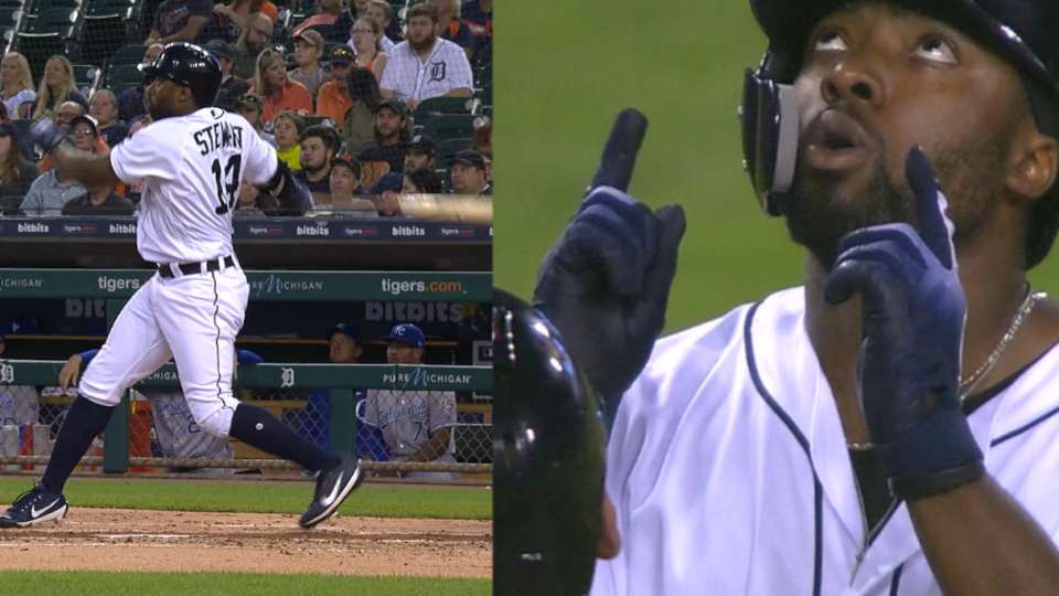 Stewart's 1st two career homers
