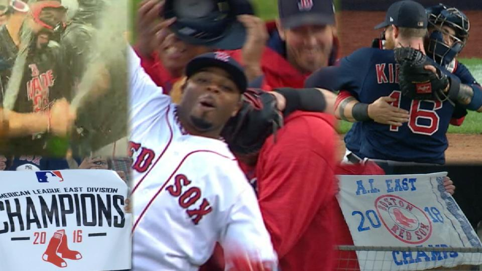 Red Sox win AL East title again