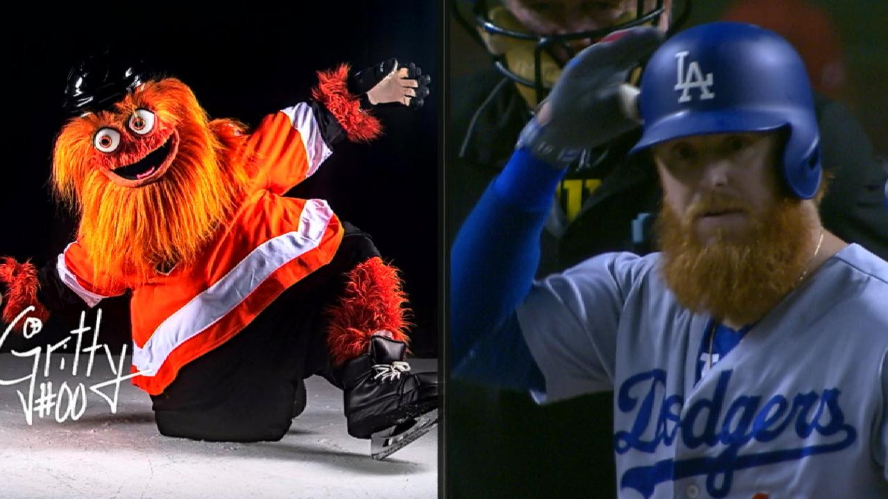 best sneakers 8031a a6edf Flyers new mascot Gritty looks like Justin Turner | MLB.com