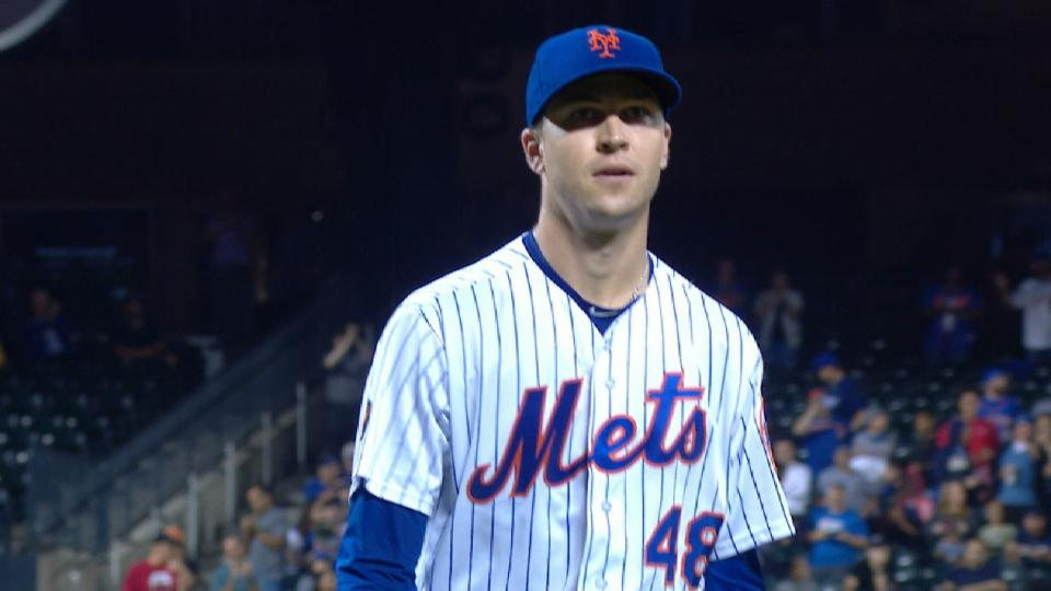 deGrom llega a 1,000 ponches