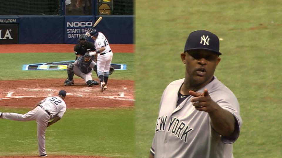 Sabathia hits Sucre, gets tossed
