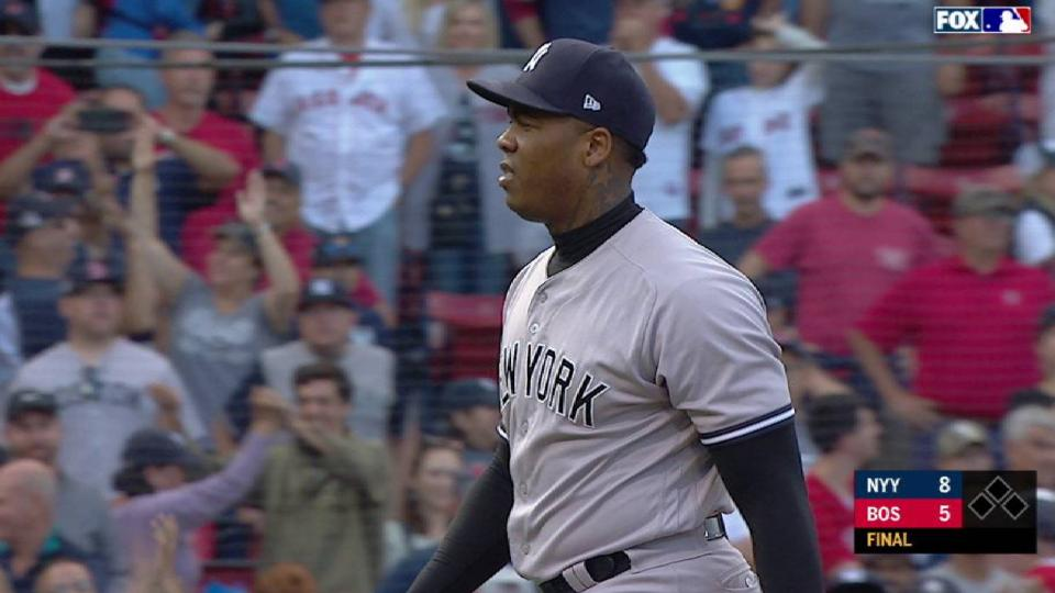 Chapman seals Yanks' 100th win