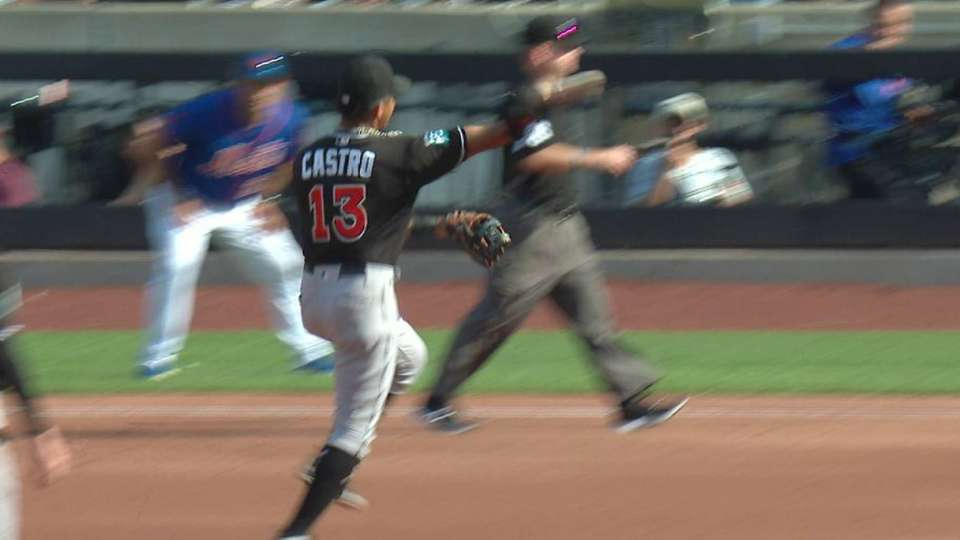 Castro's barehanded play