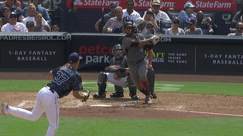 Marte's solo home run