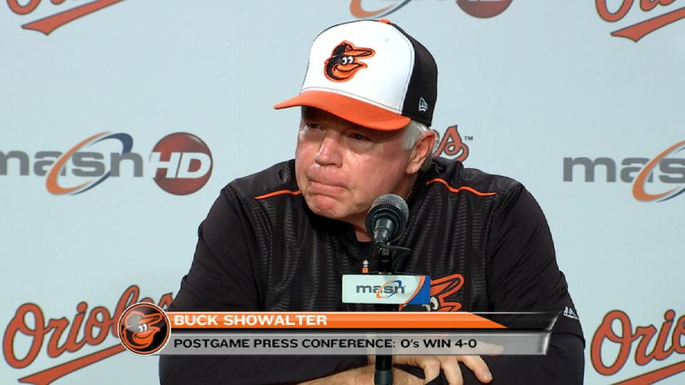 Showalter on 4-0 win over Astros