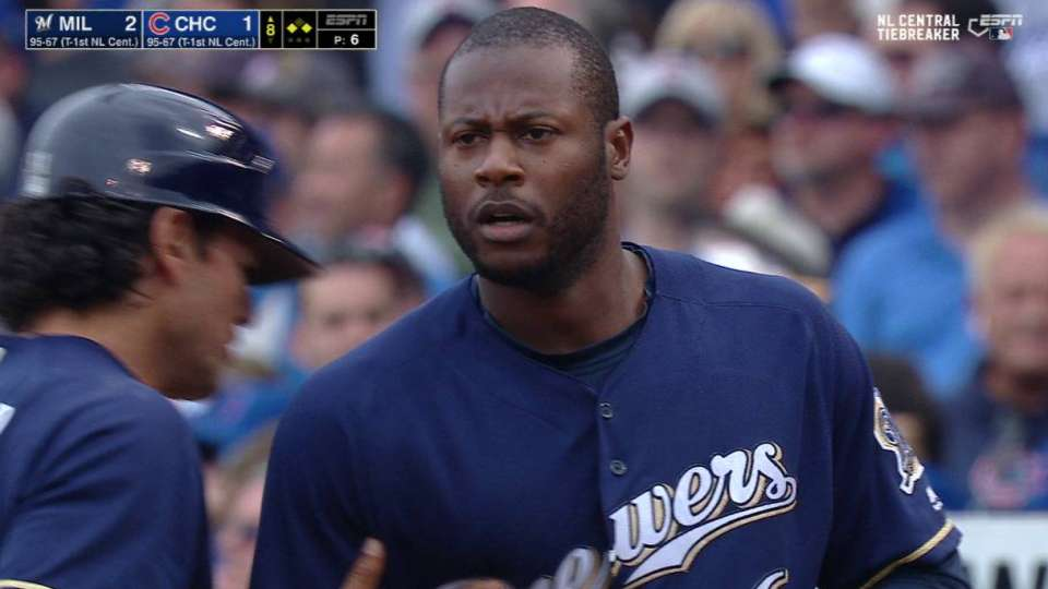 Cain's go-ahead single in 8th