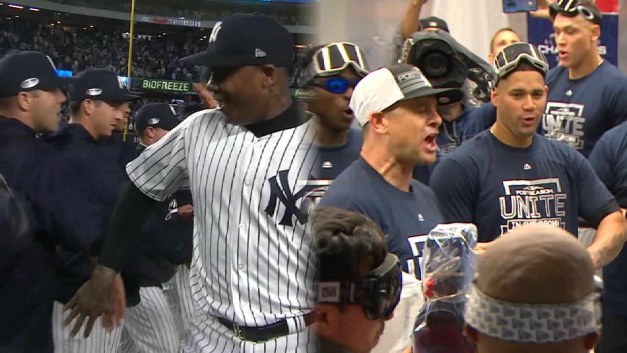 Chapman sends Yanks to ALDS