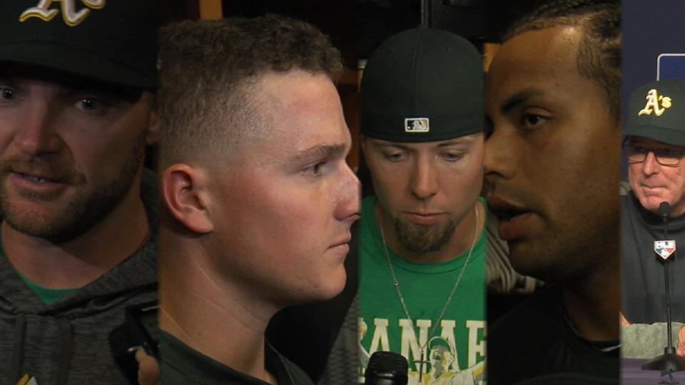 Athletics on Wild Card Game loss