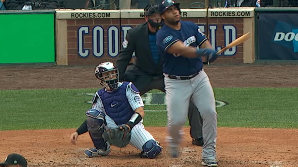 Aguilar's solo home run