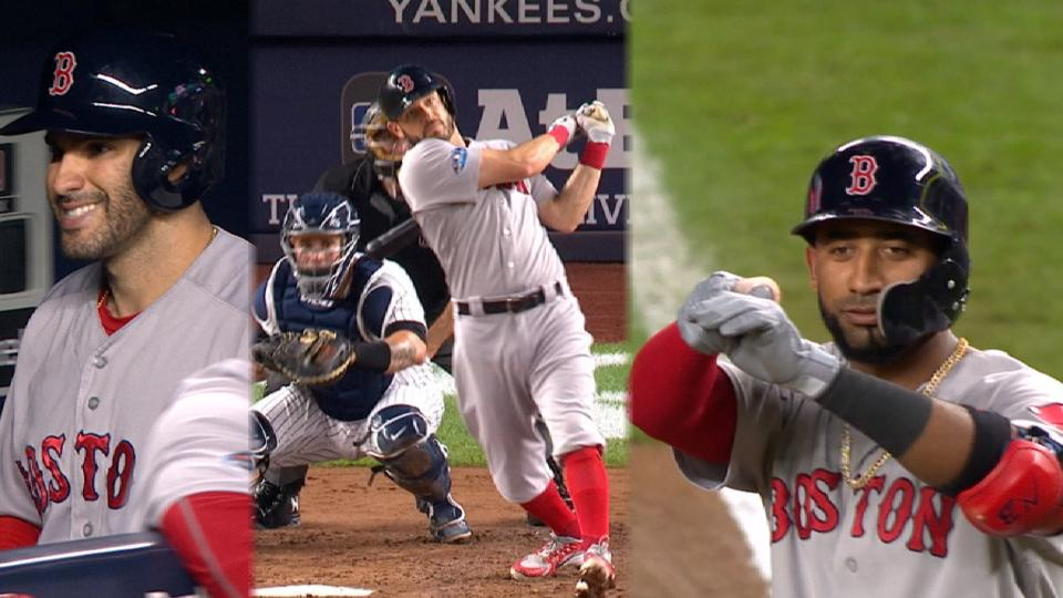 Red Sox take lead with 3-run 3rd