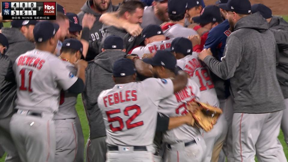 Red Sox advance after wild 9th